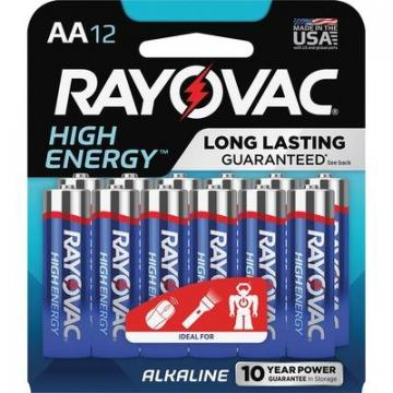 Rayovac 81512K High Energy Alkaline AA Batteries