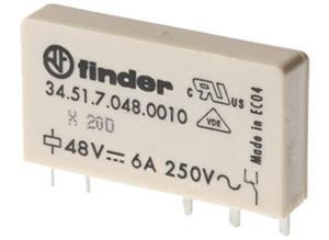 Finder Power relay, 1 changeover, 24 VDC, 6 A