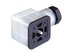 Hirschmann Cable socket, GDMF 2016 DGAA, LED 24 V and suppressor diode