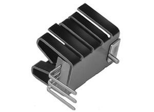 Fischer Clip-on heat sink, 21 K/W, Aluminium, solderable