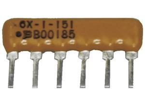 Bourns Resistance network, 470 Ω, 0.2 W, ±2 %, SIP-6, 5 resistors
