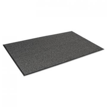 Crown Oxford Elite Wiper/Scraper Mat, 36 x 120, Black/Gray (OE0310GY)