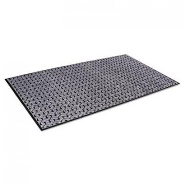 Crown Tire-Track Scraper Mat, Needlepunch Polypropylene/Vinyl, 36 x 60,Gray (TE0035GY)