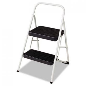 COSCO 2-Step Folding Steel Step Stool, 200lbs, 17 3/8w x 18d x 28 1/8h, Cool Gray (11135CLGG1)