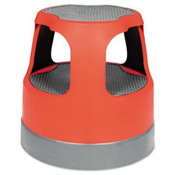 "Cramer Scooter Stool, Round, 15"", Step & Lock Wheels, to 300lb, Red (50011PK43)"