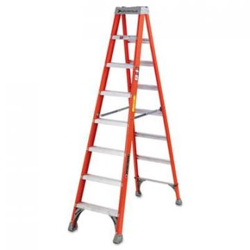 Louisville FS1500 Series Fiberglass Step Ladder FS1508, 8 ft Working Height, 300 lbs Capacity, 5 Ste