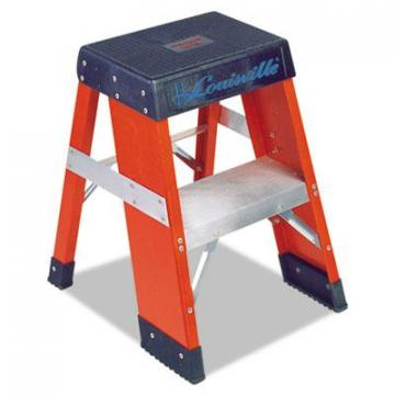 Louisville FY8000 Series Industrial Fiberglass Step Stand FY8002, 2 ft Working Height, 300 lbs Capac