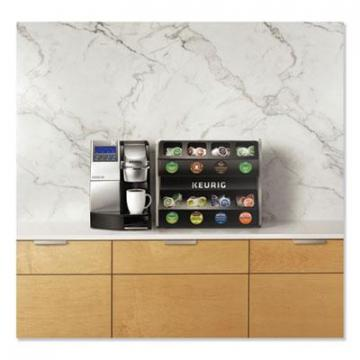 Keurig K3000 Commercial Brewer with K-Cup Storage Rack, 20 x 24 x 40.07, Black/Silver
