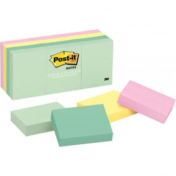3m Post-it Notes Original Notepads -Marseille Color Collection