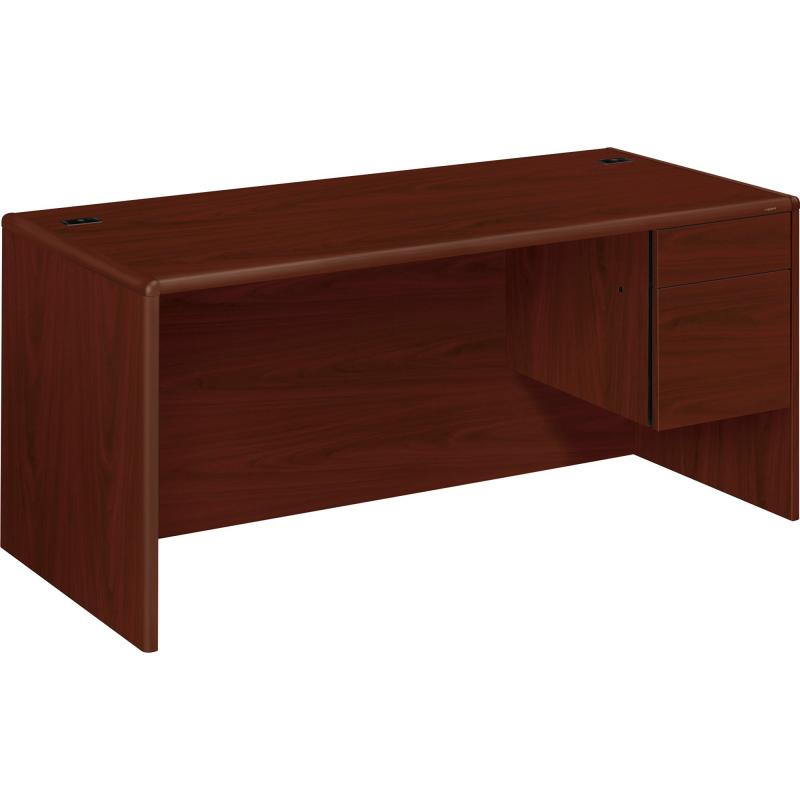 HON 10700 Series Single Pedestal Desk - 2-Drawer