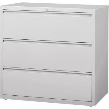 Lorell 3-Drawer Light Gray Lateral Files 88032
