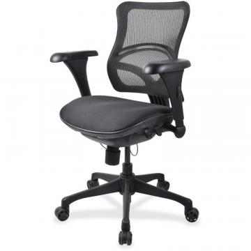 Lorell Mid-back Fabric Seat Chairs