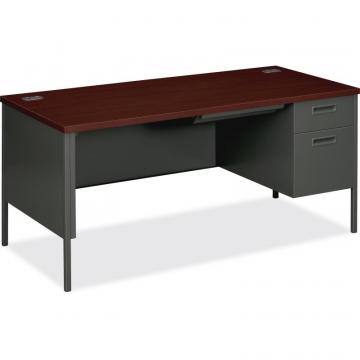 HON Metro Classic Right Pedestal Desk - 2-Drawer