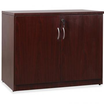 Lorell Essentials Series Mahogany 2-door Storage Cabinet