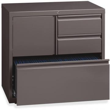 "Lorell 30"" Personal Storage Center Lateral File - 3-Drawer"