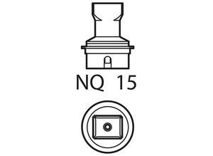 Weller T0058736838, hot-air nozzle NQ 15, L 14.5, W 10.0 mm