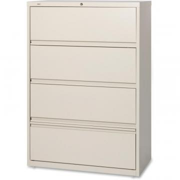 Lorell Receding Lateral File with Roll Out Shelves – 4-Drawer 43510