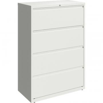 "Lorell 36"" White Lateral File - 4-Drawer"
