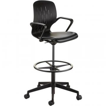 Safco Shell Extended-Height Chair 7014BL