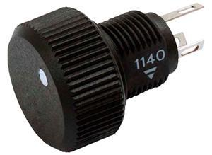 Sfernice Cermet potentiometer with knob, 100 Ω, 0,5 W, Solder lug
